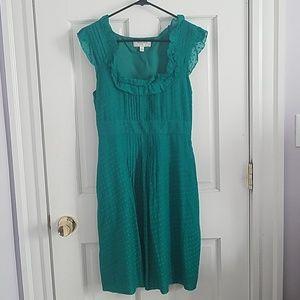 Moulinette Soeurs Swiss Dot Green Dress